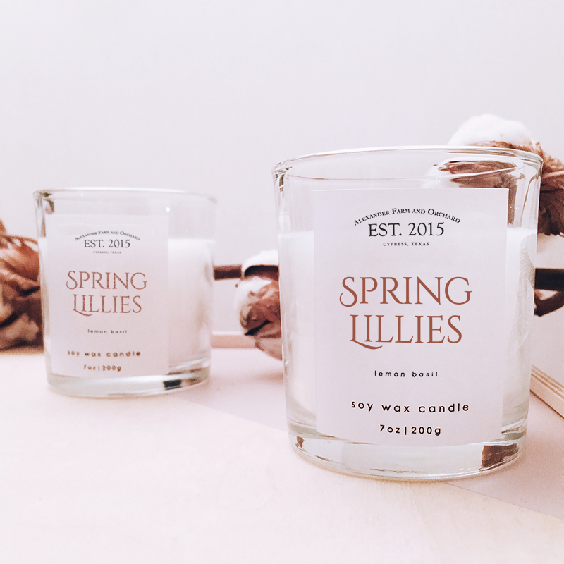 spring-lillies-candle